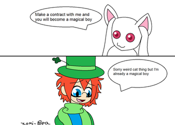 Lucky mets Kyubey by Zomi-Bea