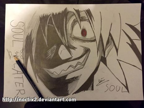 Soul Eater Evans dark blood by noctix2