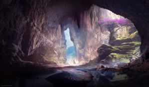 Pink Cave by Aths-Art