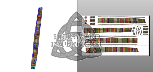 Doctor Who 4th Doctor's Scarf Papercraft by HellswordPapercraft