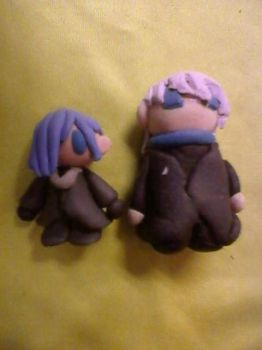 Our Little Clay Buddies: Zexion+Tomyo by Kaitlinsweetie
