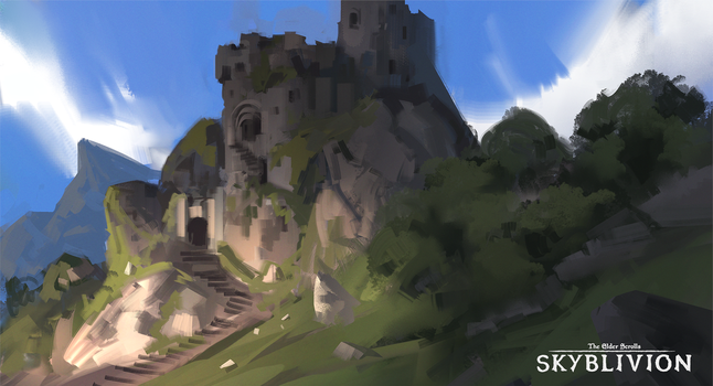 Skyblivion - Fort (landscaping) by RobertoGatto