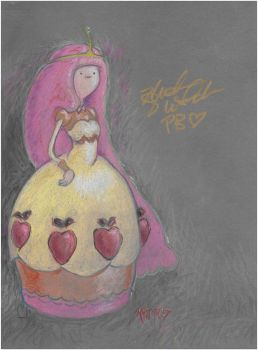 Princess Bubblegum Autographed by kaspired
