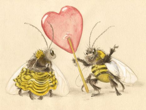 Valentine for a Bee by asiapasek