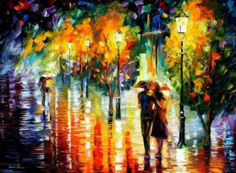 Two Couples by Leonid Afremov by Leonidafremov