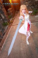 Asuna with sword in Sword Art Online by multipack223