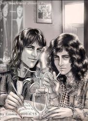 Jeff Beck Jimmy Page-drinking by beckpage