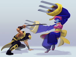 Crossover Fight by 0pik-0ort