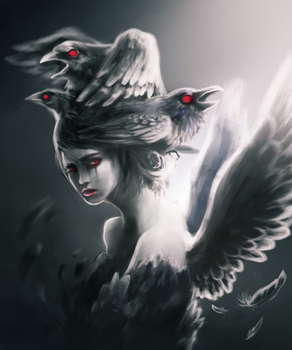 Lady of the Crow by Foxeaf