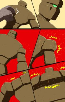 Mike into Golem TF Comic page 25 by whiteguardian