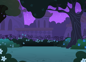 Canterlot Gardens Background by Shadowwolf