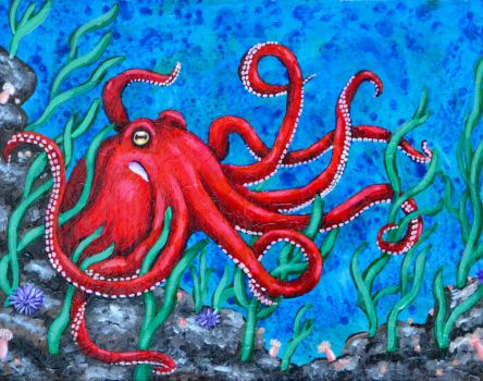 Octopus Painting by Mad-Willy