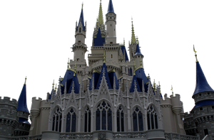 Castle CLEAR-CUT by WDWParksGal-Stock