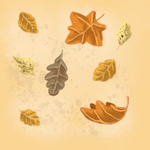 Autumn leaves background by Liljatupsu