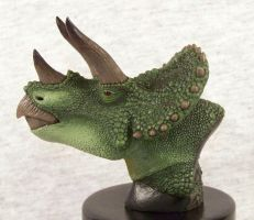 Triceratops Bust Sculpture by mmfrankford