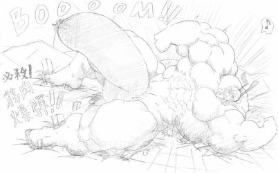 Super bunny boy muscle explosion by me-go
