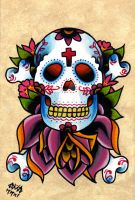 Sugar Skull and Cross Bones by Vicki-Death