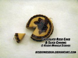 Chocolate Rose Cake Charm by KisekiNoSekai