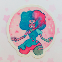 Cotton Candy Garnet Sticker - Steven universe by Alba-R-Luque