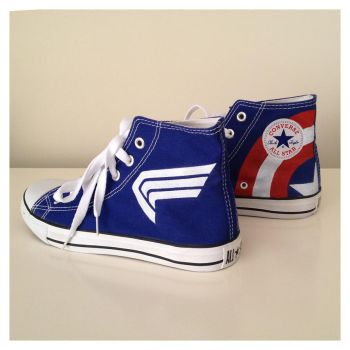 Captain America Sneakers by breathless-ness