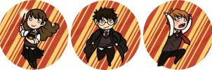 Buttons - Harry Potter by elefluff