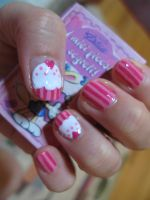 Cupcakes Nails by oMARUo