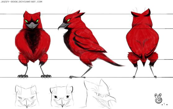 School Project- Animal Hybrid Modelsheet by Jazzy-Book