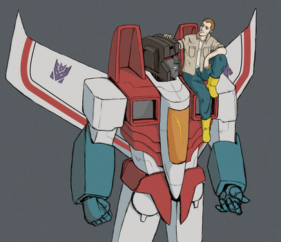 Starscream and friend? by Zaebros