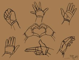 Simple Hand poses by TastyOranges