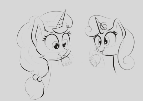 Just Belle Pony Things by fiftyfivefives