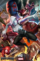 Spider-Geddon Connecting Cover 4 of 6 by inhyuklee