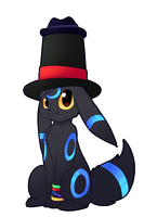 Commission- Top Hat Umbreon by pinkeevee222