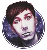 Phil Lester 'space' by DraconaMalfoy