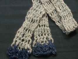 hand-spun hand-dyed scarf by crochetty-spinner