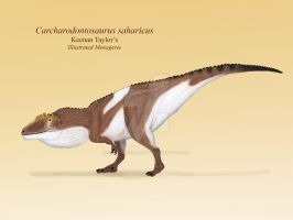 Carcharodontosaurus saharicus by IllustratedMenagerie