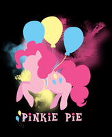 Pinkie Pie Silhouette T-Shirt Design by jewlecho