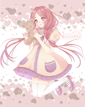 Kawaii girl by Nessbell