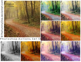 Photoshop Actions, Set 13 by TheYummyOne