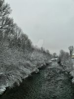 Winter river by 75ronin