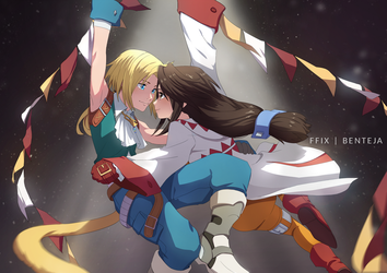 FFIX: Zidane and Garnet (Greatest Showman ref) by benteja