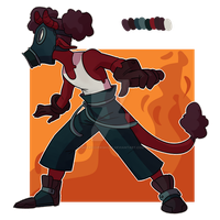 Auction / Pyro Tiefling CLOSED by undercoverghost
