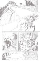 Godzilla vs. Mega Man Page 2 Pencils by MegaRyan104