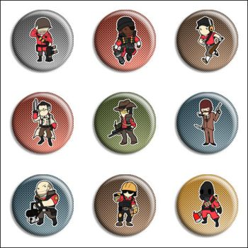 Team Fortress 2 Buttons by Maxx-V