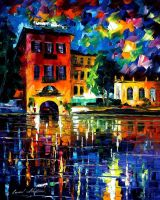 Slow river by Leonid Afremov by Leonidafremov