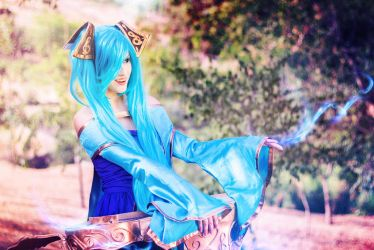 Only you can hear me summoner~ Sona Cosplay by TheSweetAmy