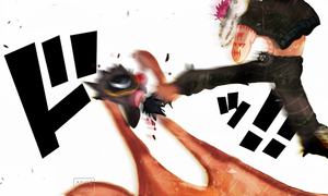 One Piece Chapter 881 Luffy VS Katakuri Painting by Amanomoon