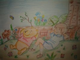 Winnie Puuh and Christopher by sanco