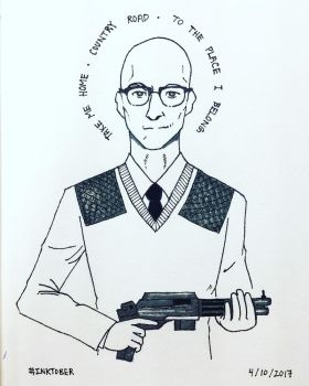 Inktober 2017 - Day 3: Kingsman Merlin by kaithebox