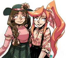 junie and thena by omoulo