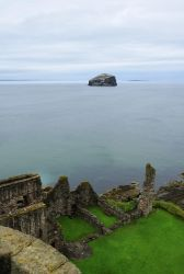 Tantallon Castle with Bass Rock by JanKacar